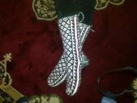 Техника вязания - 5 спиц без шва, жаккардовый узор.  20.00 у.е.в. Тэги. вязание.  Гольфы - джурабы.