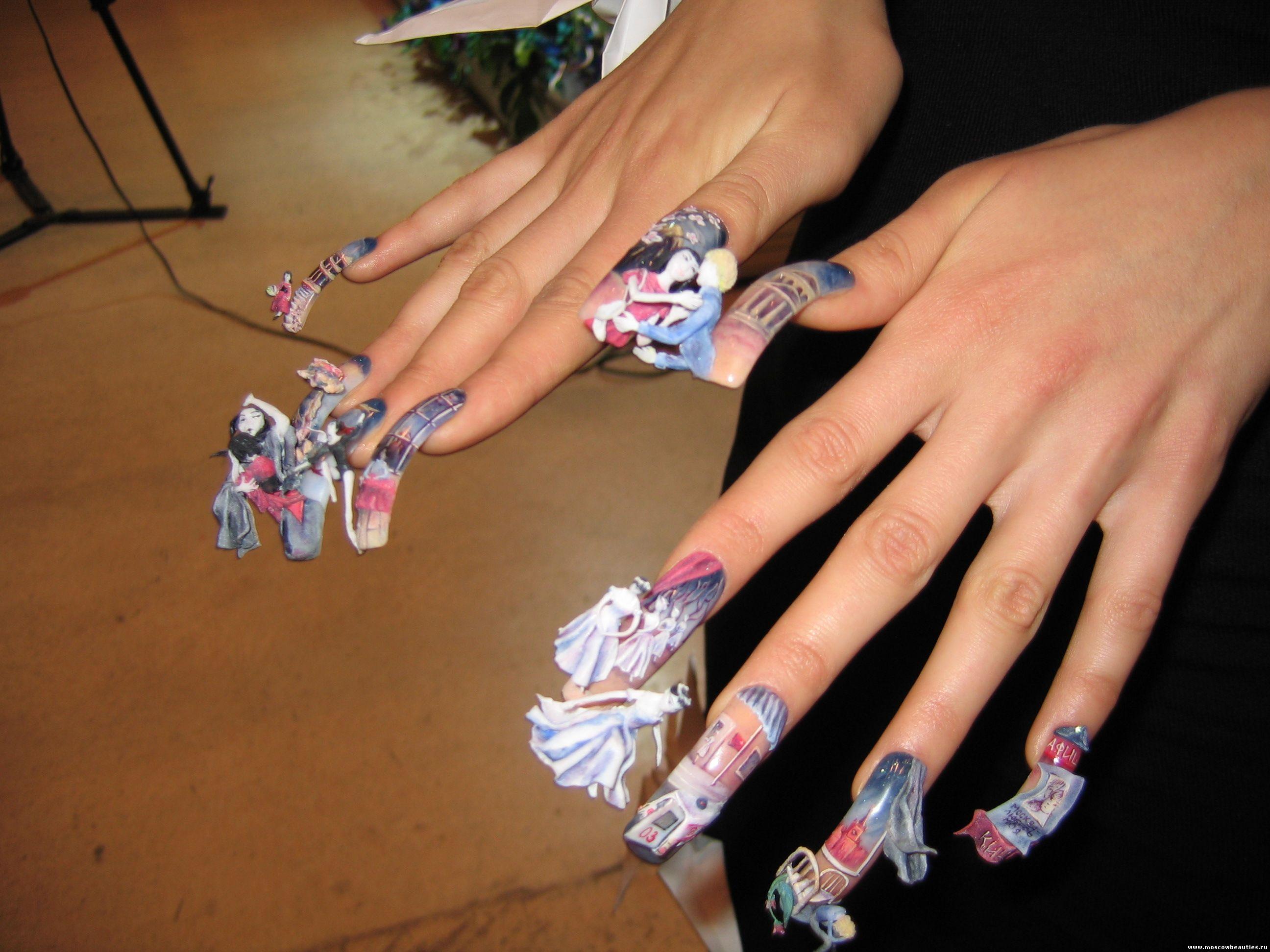 Как сделать из пластилина ногти для девочек